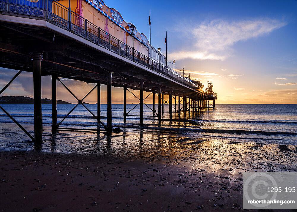 The photogenic Pier at Paignton, Devon UK