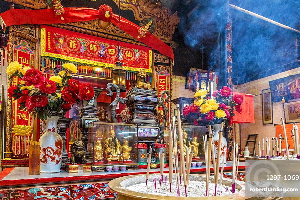Sin Sze Si Ya Temple in Kuala Lumpur, Malaysia, Southeast Asia, Asia