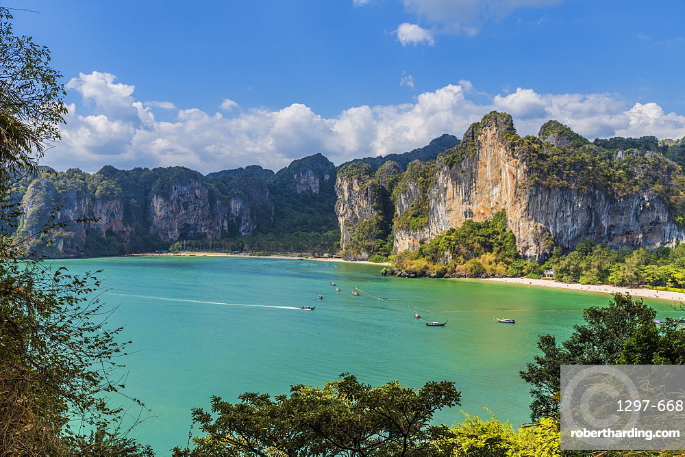 The view from West Railay viewpoint in Railay, Ao Nang, Krabi Province, Thailand, Southeast Asia, Asia