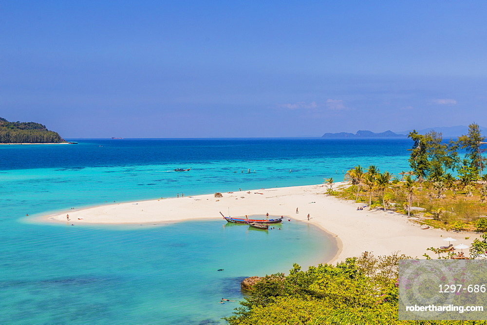 The crystal blue waters of Sunrise Beach on Ko Lipe in Tarutao National Marine Park, Thailand, Southeast Asia, Asia
