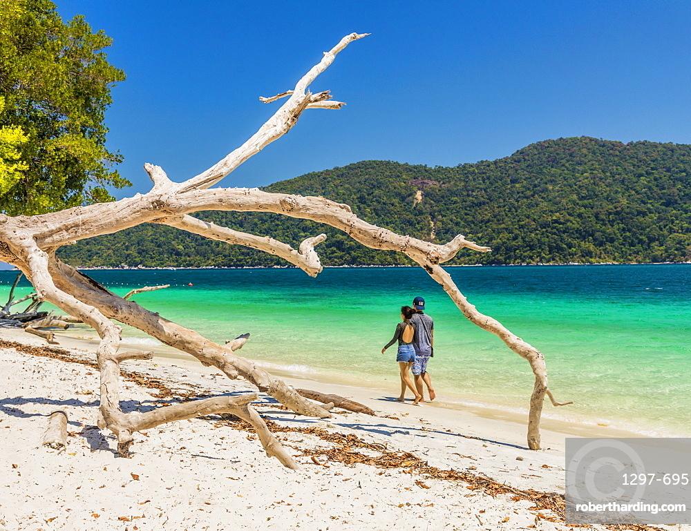 The beach on Ko Rawi island in Tarutao Marine National Park, Thailand, Southeast Asia, Asia