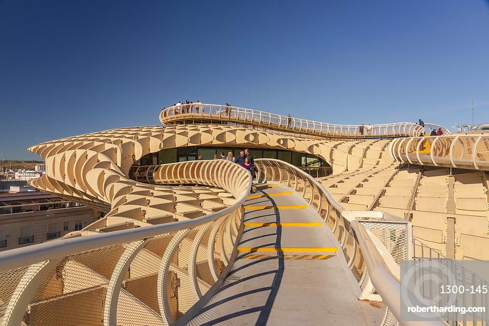 Setas de Sevilla, Metropol Parasol a huge wooden modern architecture structure