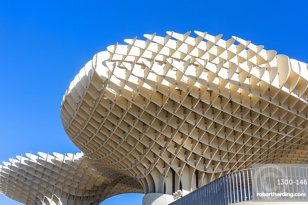 Setas de Sevilla, Metropol Parasol a wooden modern architecture structure with an archaeological museum & viewpoint.