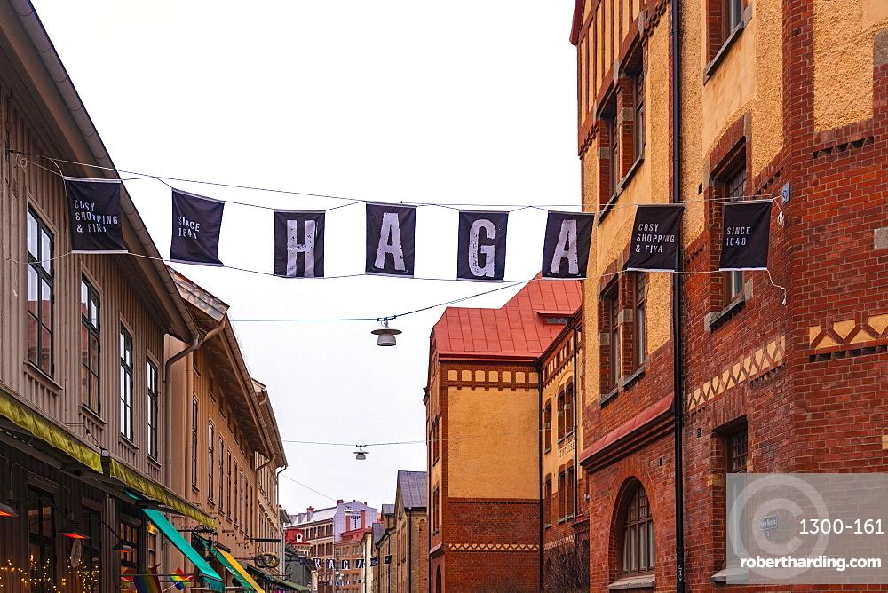 Haga district in Göteborg in spring