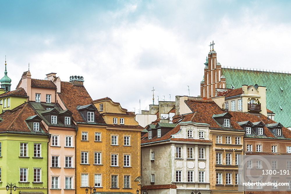 Historic buildings at the Castle Square (Plac Zamkowy), Old city, Warsaw, Poland