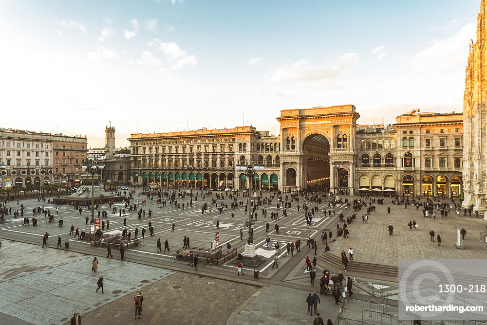 Galleria Vittorio Emanuele II and the Cathedral at the Cathedral Square (Doumo) in Milan