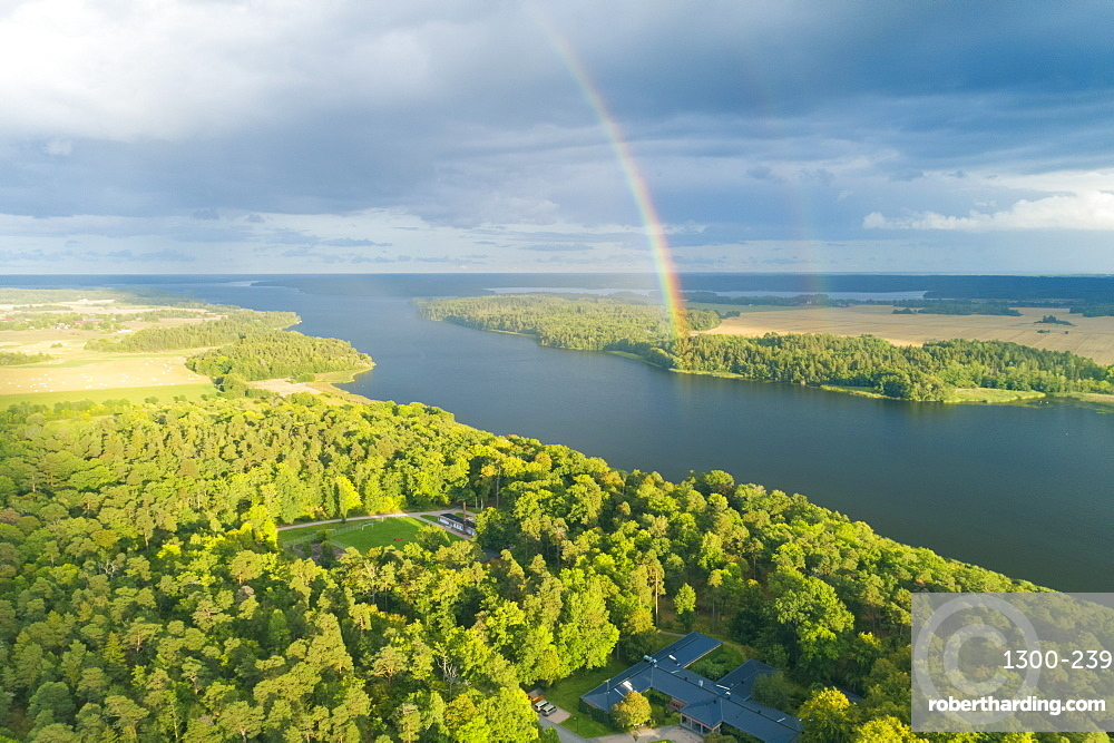 Lake Malaren near Wik Castle, in Uppsala County, Sweden, Scandinavia, Europe