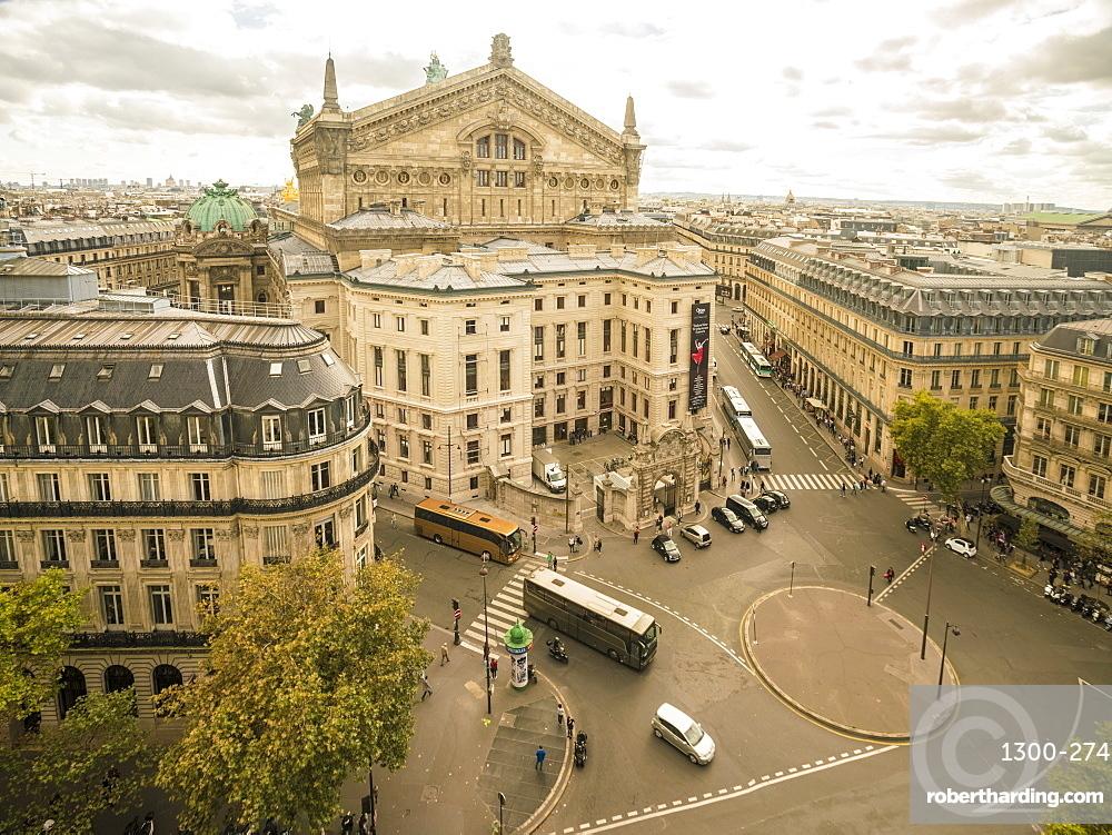 Paris Opera House from Lafayette Gallery (Galeries Lafayette), Paris, France, Europe