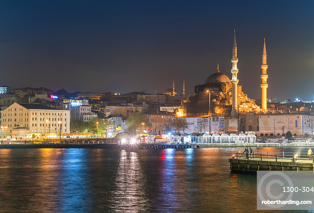 Eminönü with mosques, viewed from the sea