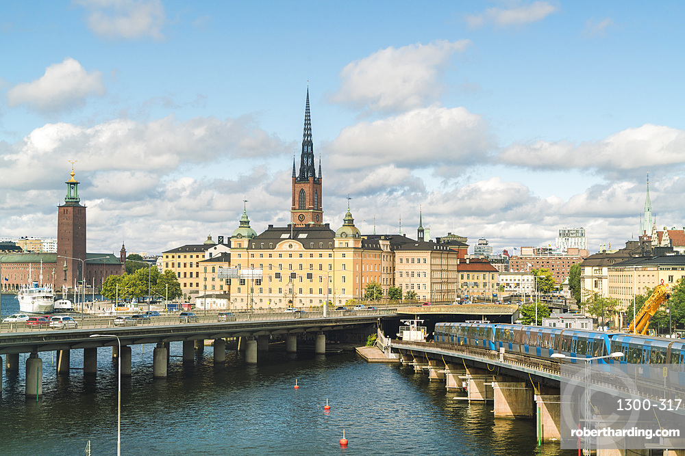 City center of Stockholm with Ridarholmenkirke, Stockholm, Sweden, Scandinavia, Europe