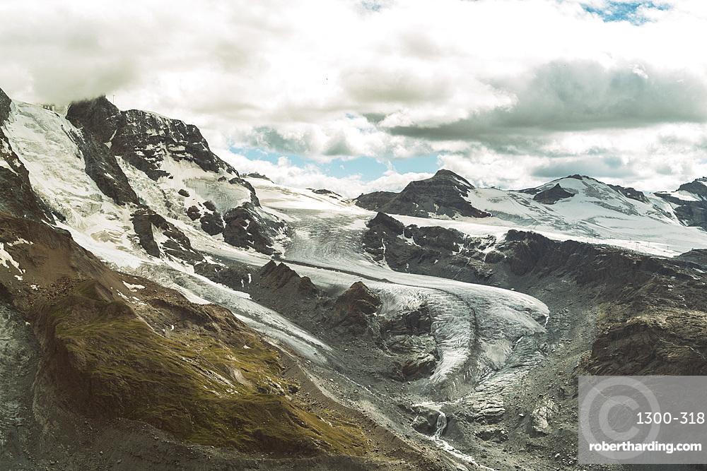 Glacier at Gornergrat near Zermatt in summer, Valais, Swiss Alps, Switzerland, Europe