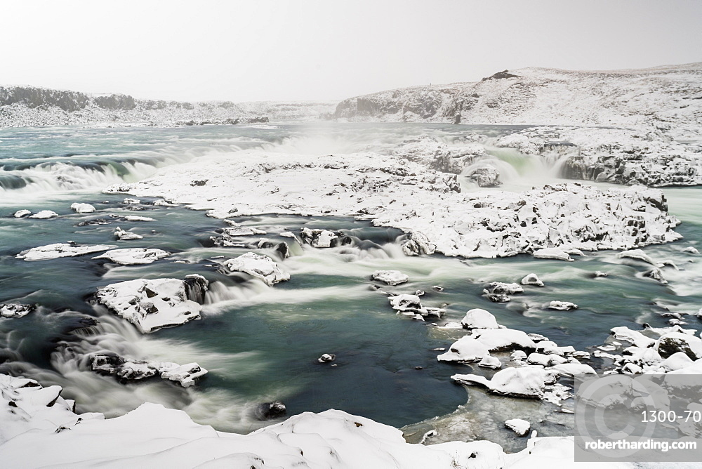 Urridafoss in the south of Iceland, Iceland, Polar Regions