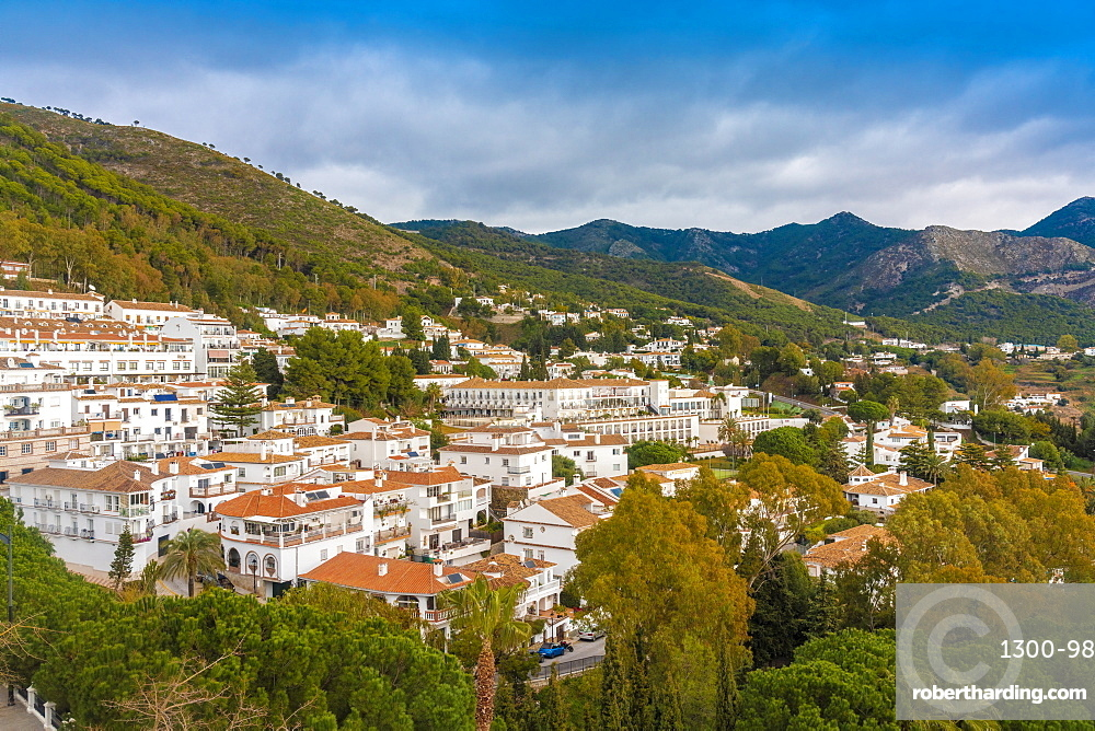 Historic old white village of Mijas, Andalucia, Spain, Europe