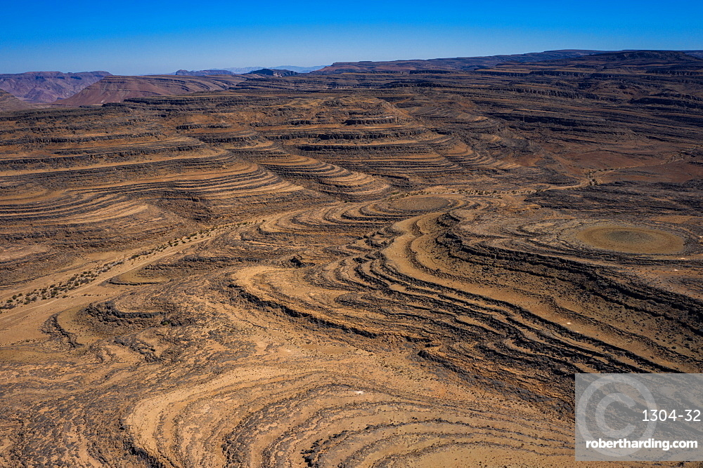 A drone shot of the Fish River Canyon in Namibia, the second largest canyon in the world