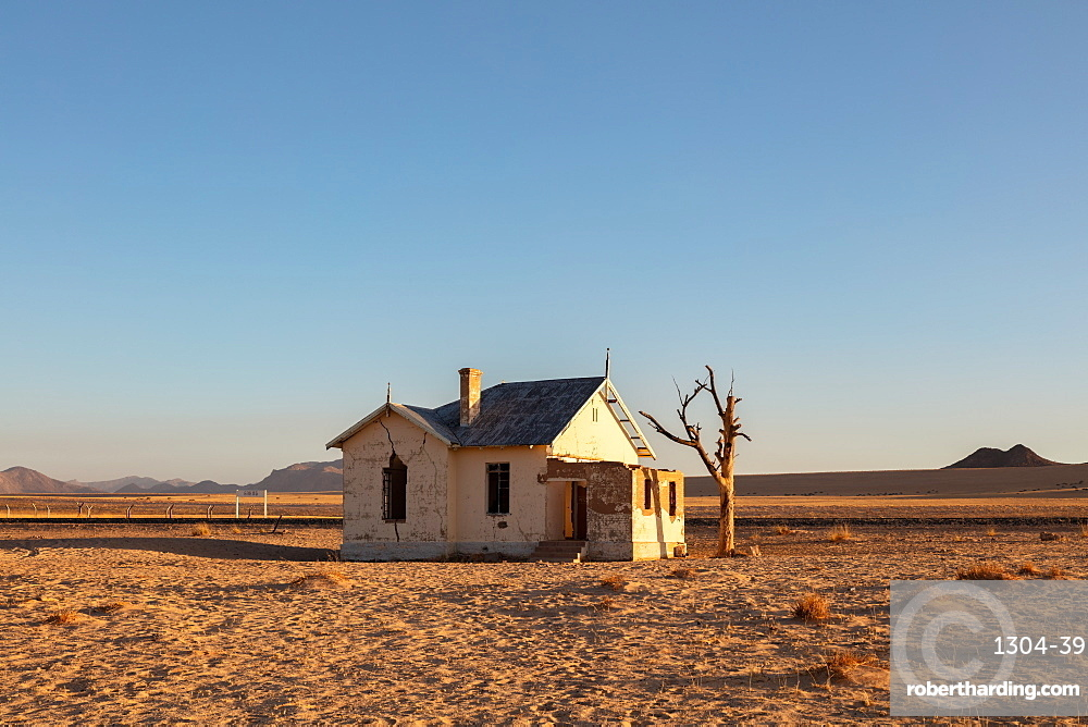 Abandoned Train Station Garub in the Luderitz/Spergbeit Diamond Area, Namibia, Africa