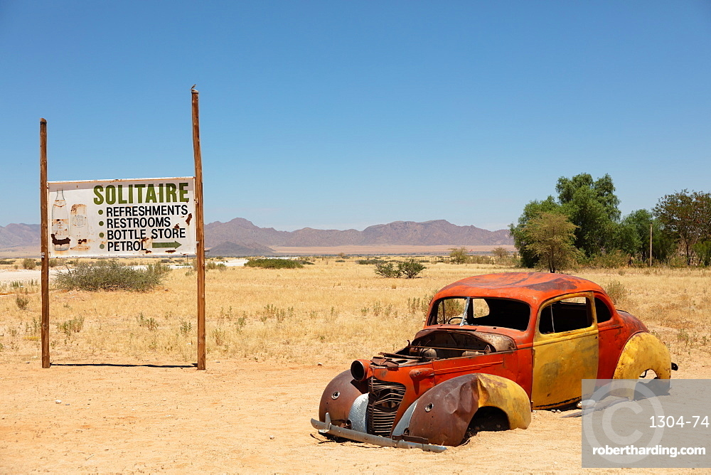 Solitaire is a cool town in the middle of Namibia, it is full of rusting cars, bikes and disused fuel pumps..