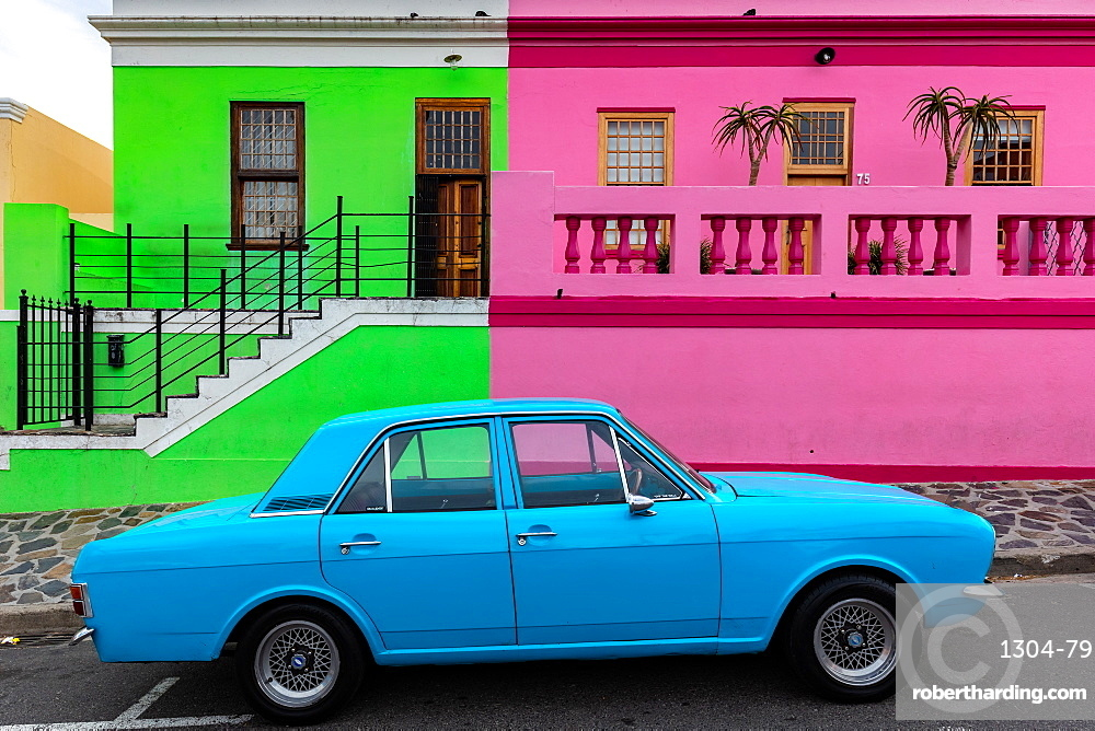Bo-Kaap. Located in between the city centre and the foot of Signal Hill, Cape Town, South Africa