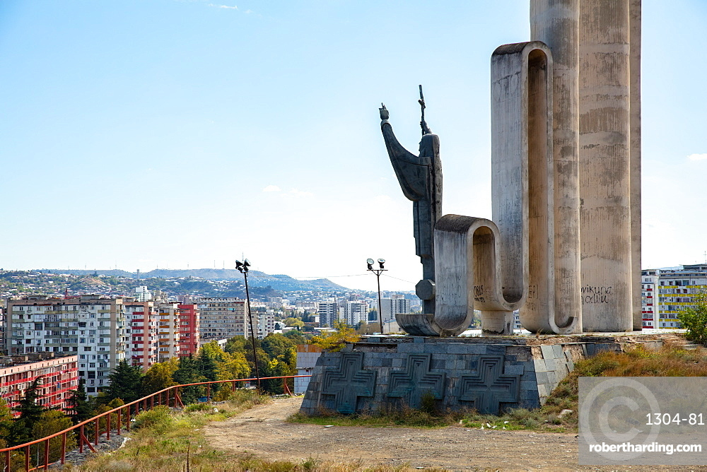 Monument to Saint Nino in Tbilisi, Georgia, Central Asia, Asia