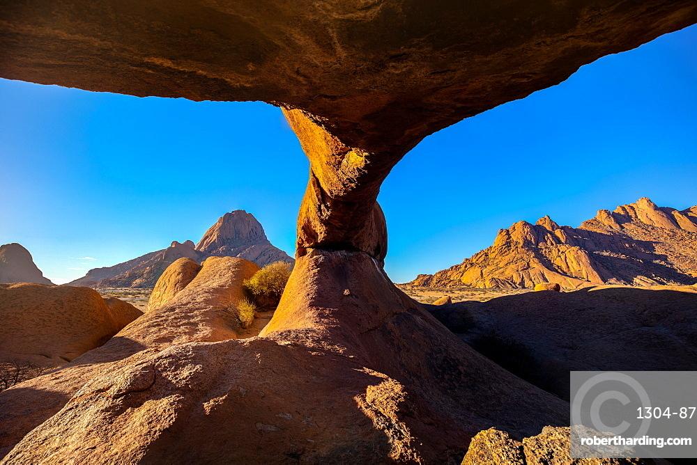 Spitzkoppe Arch at sunrise, Namibia, Africa