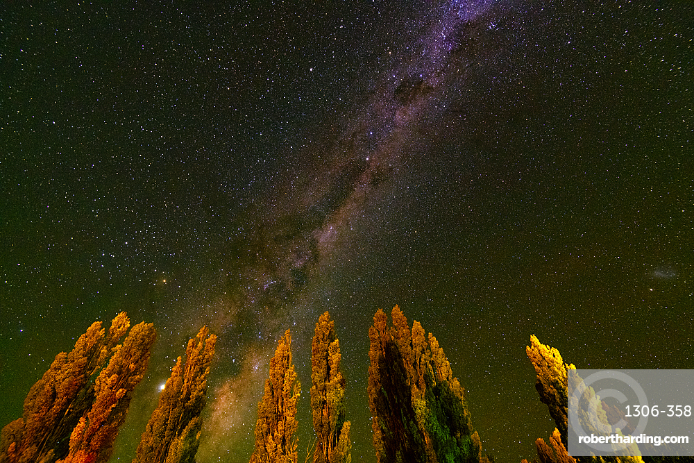 The Milky Way above Piedra Parada, Chubut Province, Patagonia, Argentina.