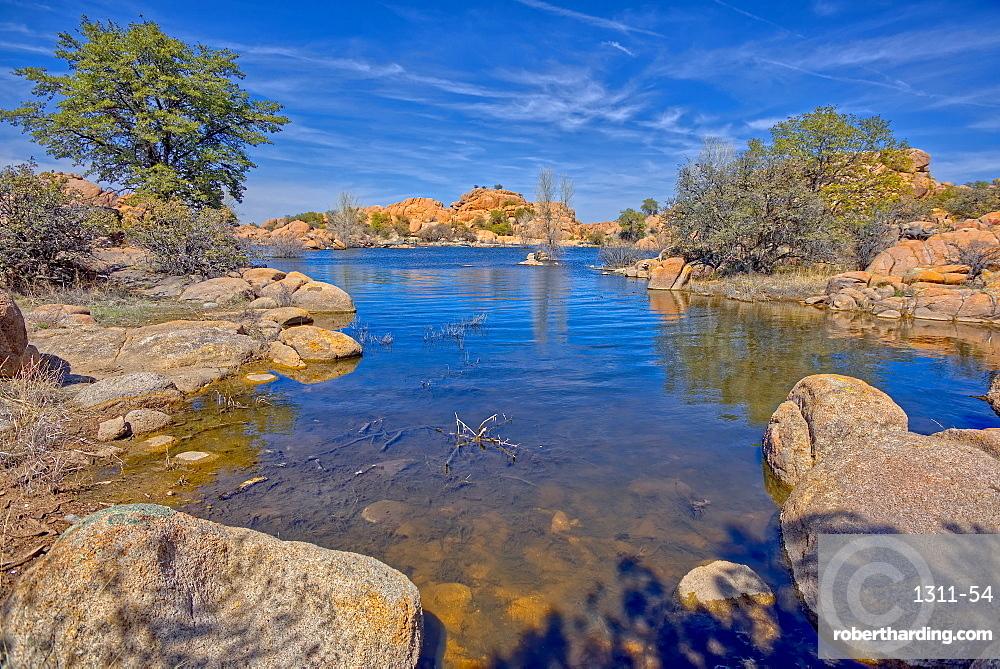 View of a small cove near the end of Lake Shore Trail in Watson Lake at Prescott AZ.