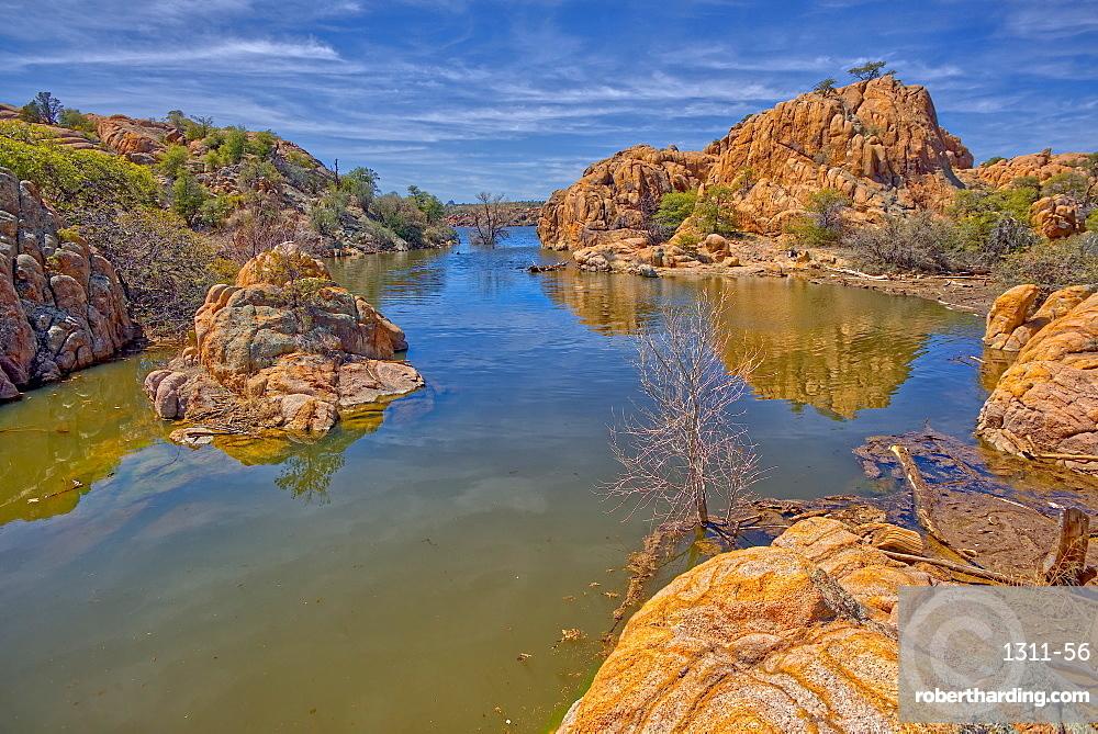 View of the Secret Cove on the east side of Watson Lake in Prescott, Arizona, United States of America, North America