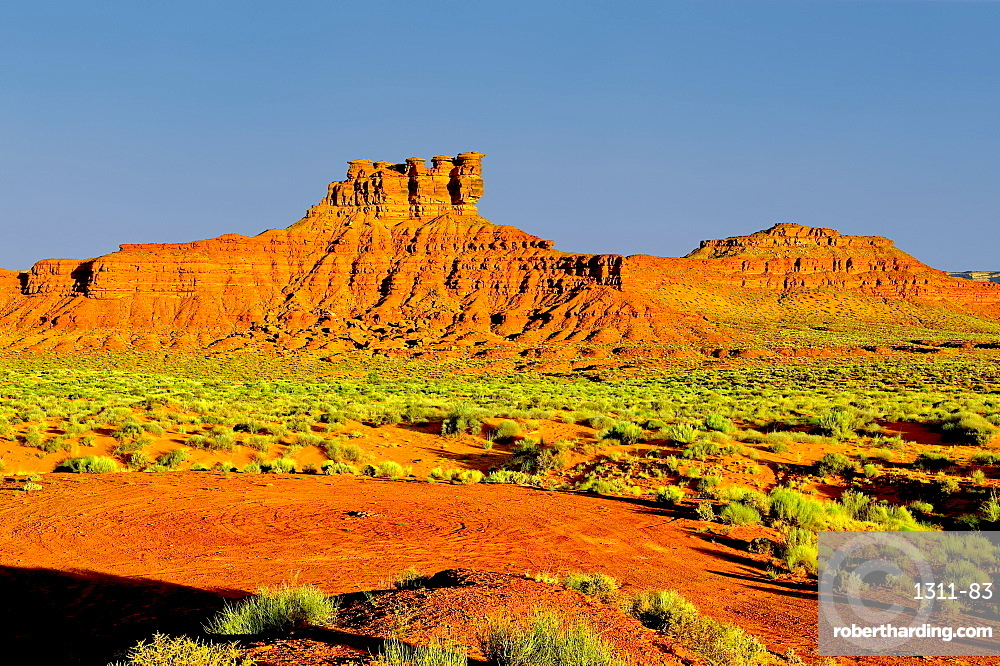 Formation in Valley of the Gods Utah called the Seven Sailors. Located near the town Mexican Hat.