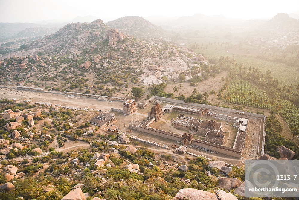 A view of Achyutaraya Temple at sunrise, Hampi.