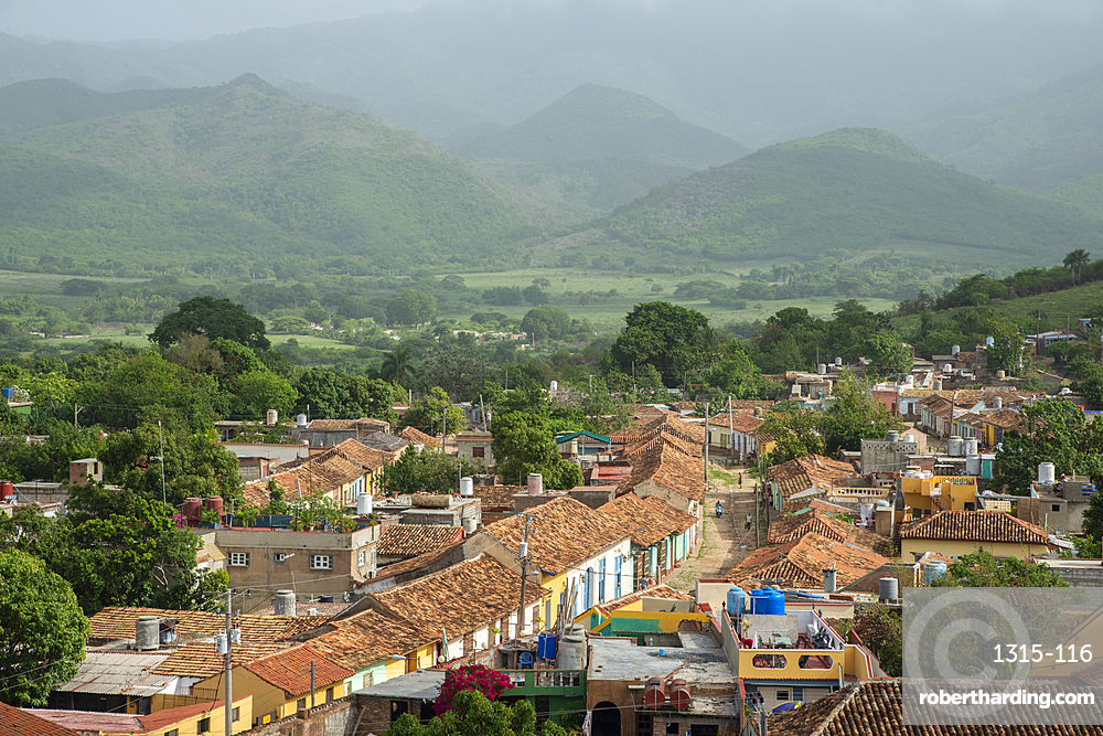 View from San Francisco de Asis of Trinidad, Cuba, West Indies, Caribbean, Central America