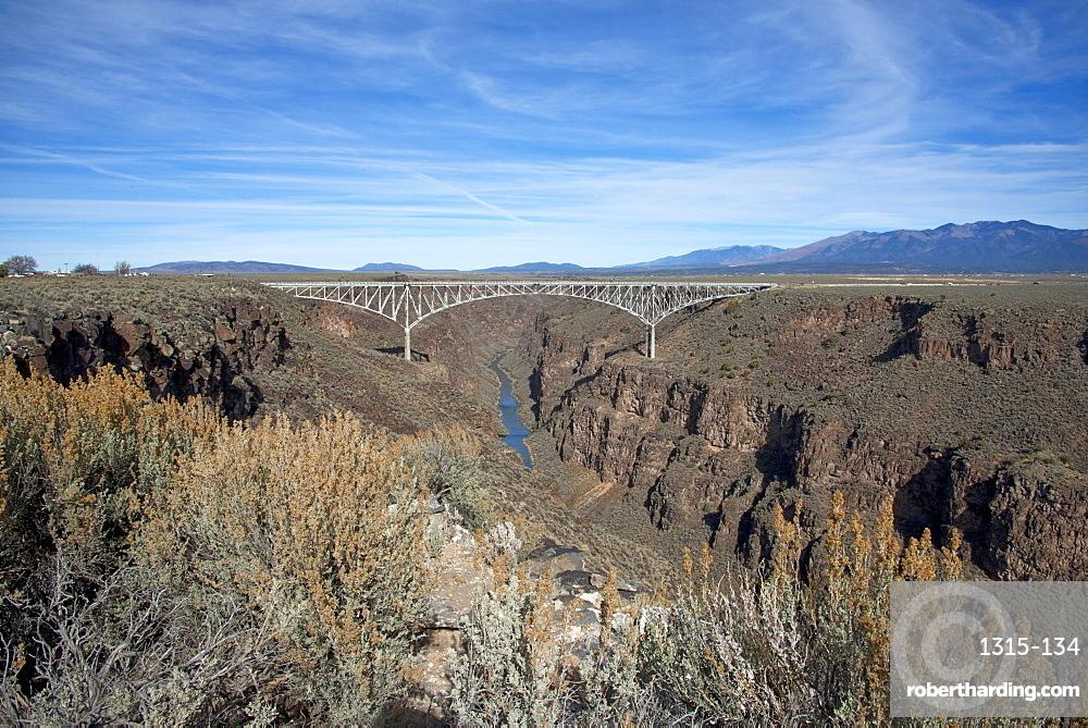 Rio Grande Gorge Bridge, Taos, New Mexico, United States of America, North America