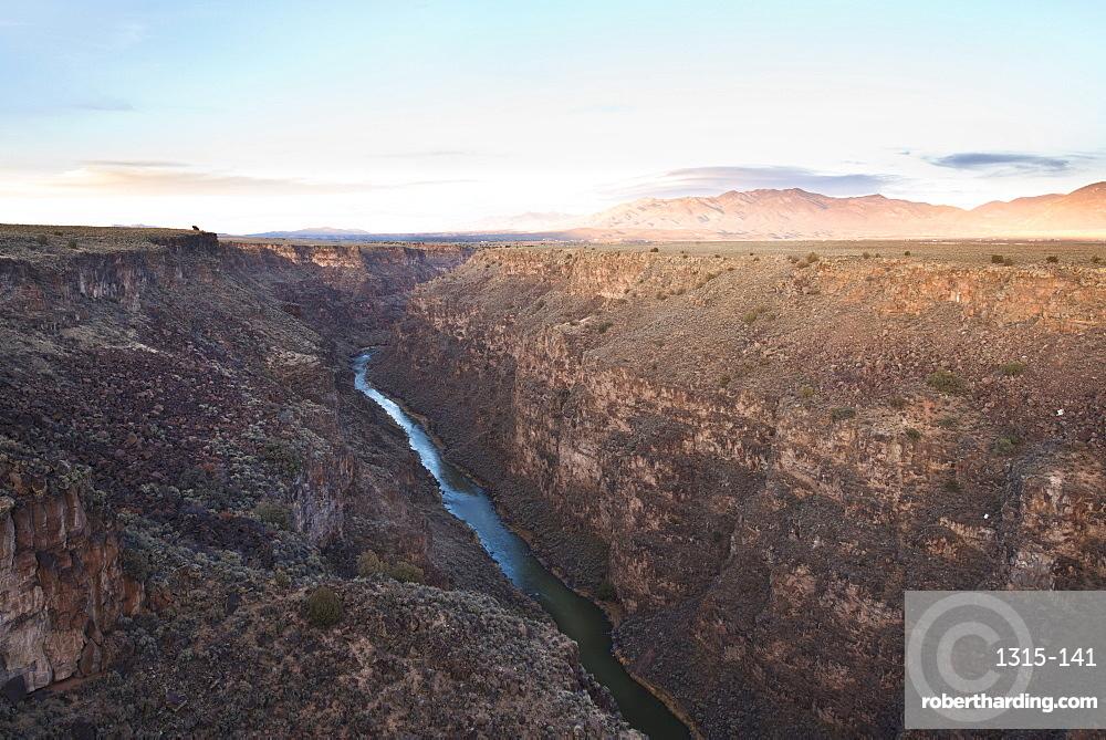 Rio Grande Gorge in Taos, New Mexico, United States of America, North America
