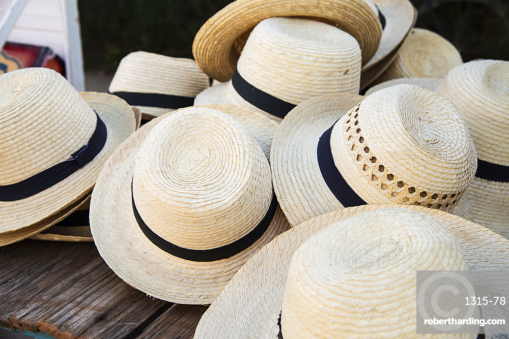 Straw hats for sale in Vinales, Cuba