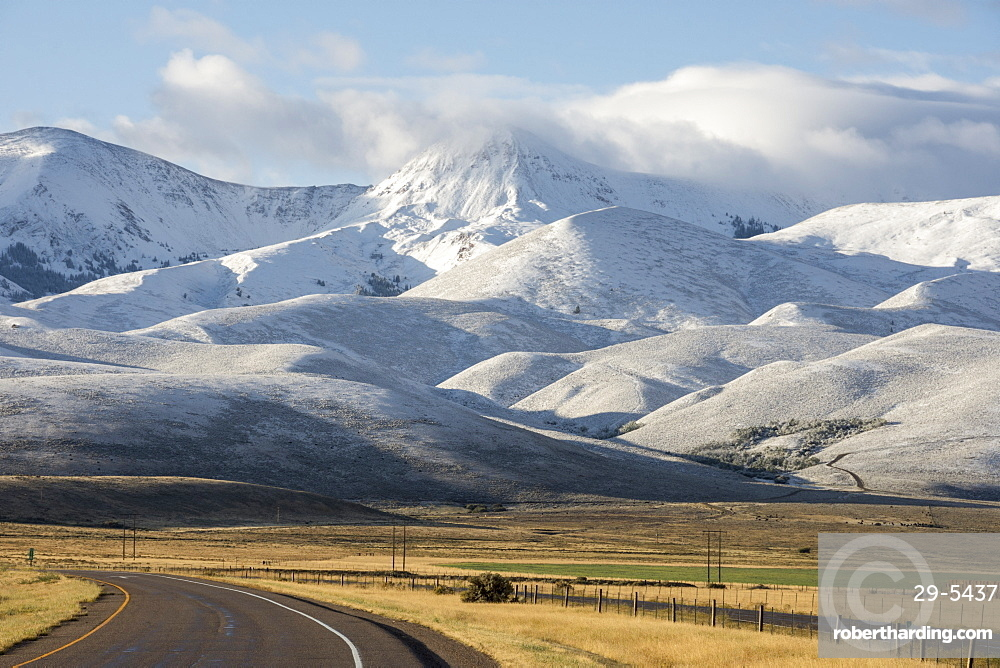 Bitterfoot Range, with the first snow of winter, South West Montana, United States of America, North America