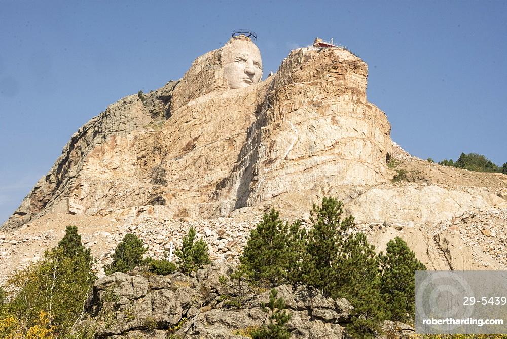 Crazy Horse Memorial granite carving, Black Hills of South Dakota