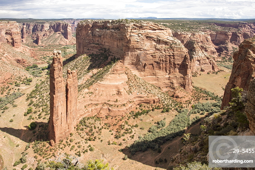 Spider Rock, Canyon de Chelly National Monument, Arizona, United States of America, North America
