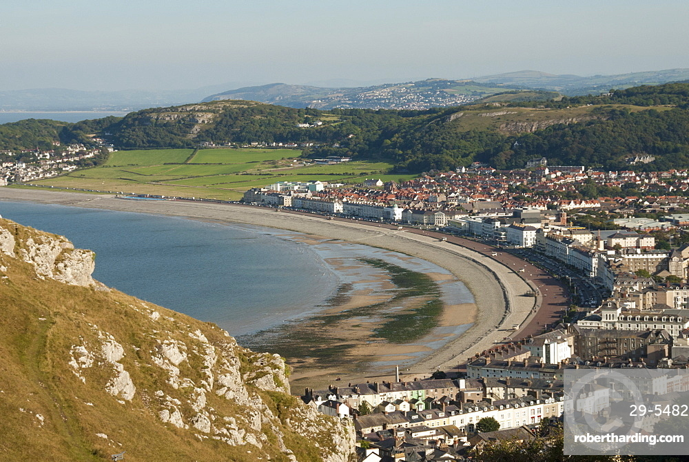 Llandudno, seen from the Great Orme, Conwy County, North Wales, United Kingdom, Europe