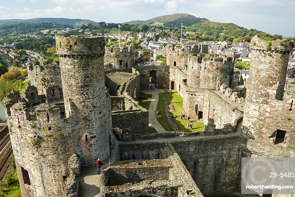 Conwy Castle, UNESCO World Heritage Site, Conwy (Conway), North Wales, United Kingdom, Europe