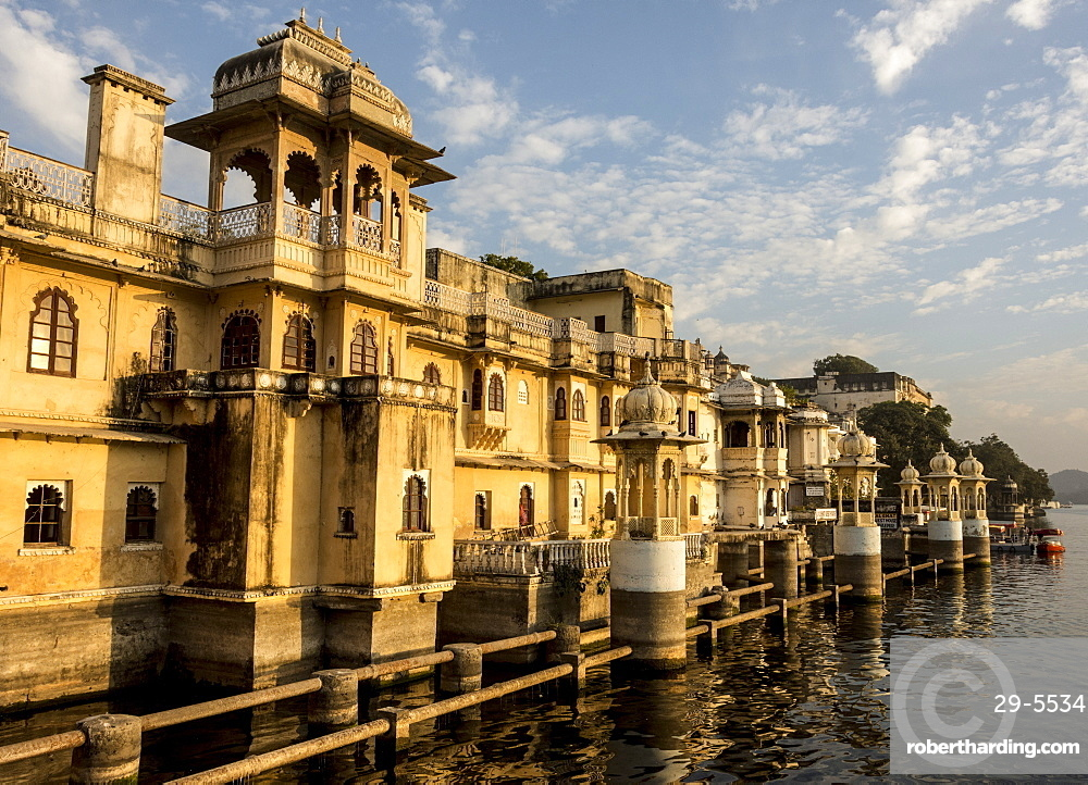 Lal Ghat, on shore of Lake Pichola, Udaipur, Rajasthan, India