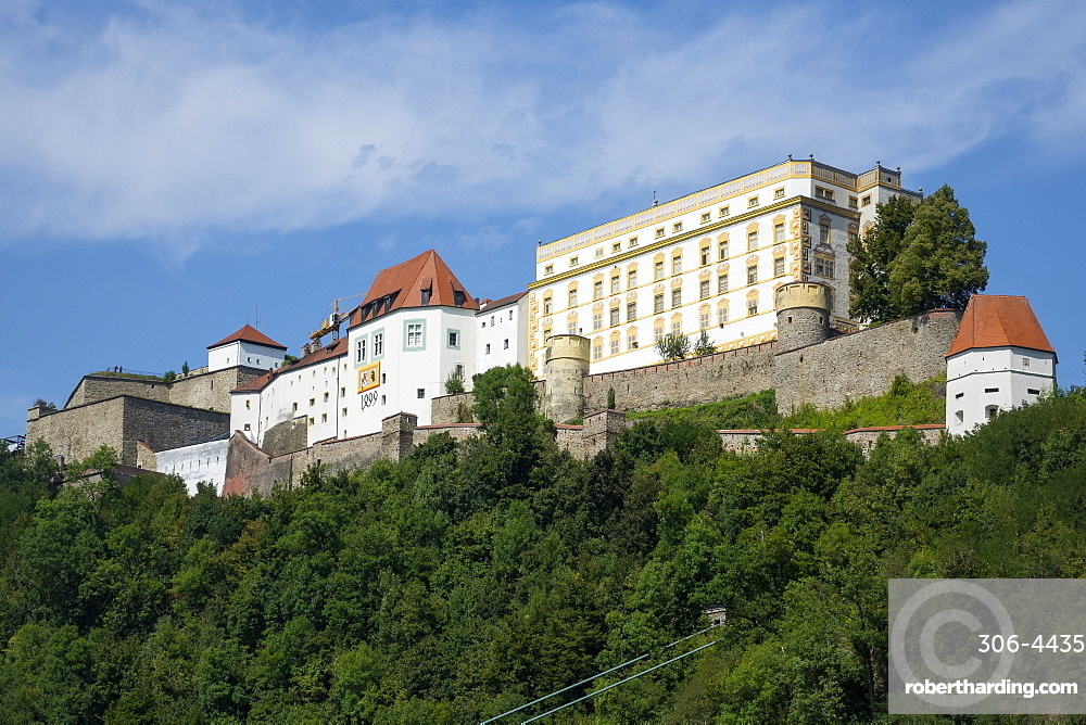 Veste Oberhaus Fortress, Passau, Lower Bavaria, Germany, Europe