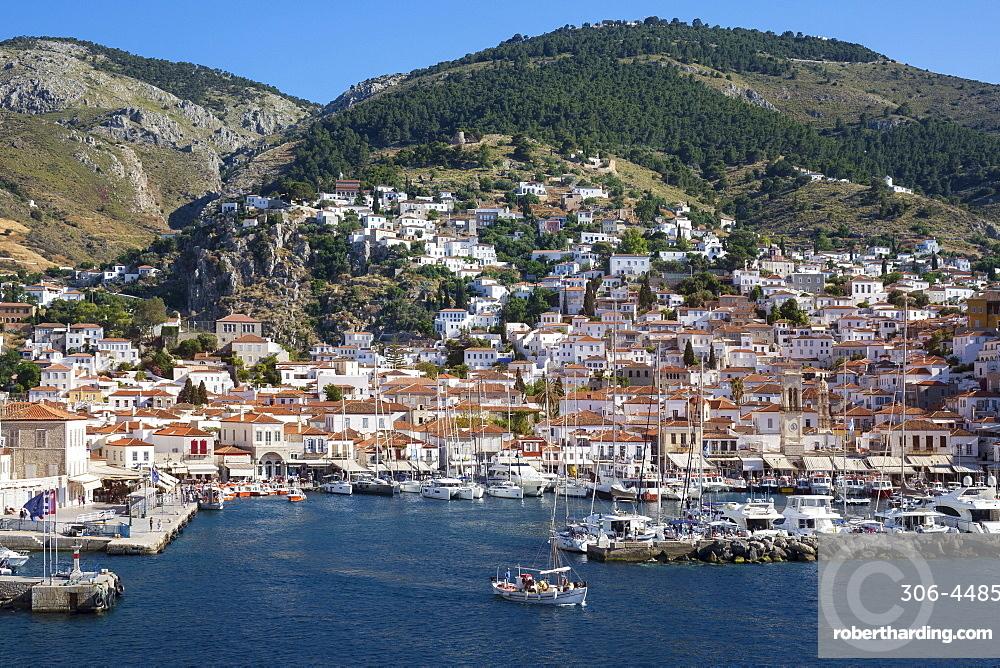Harbour, Hydra, Saronic Islands, Greece