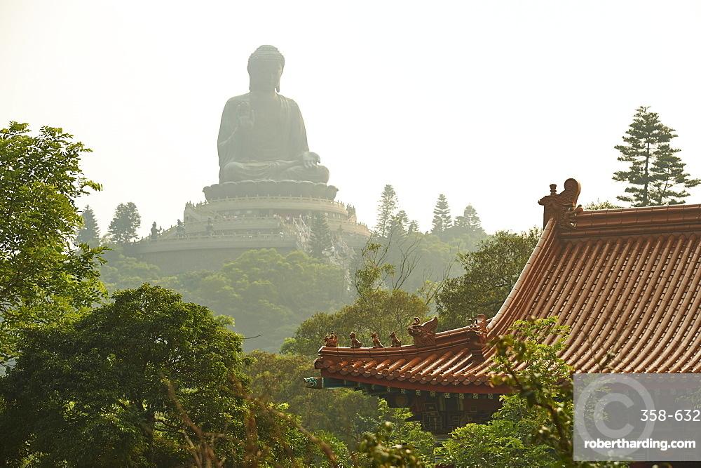 Big Buddha from Po Lin Monastery, Ngong Ping, Lantau Island, Hong Kong, China, Asia