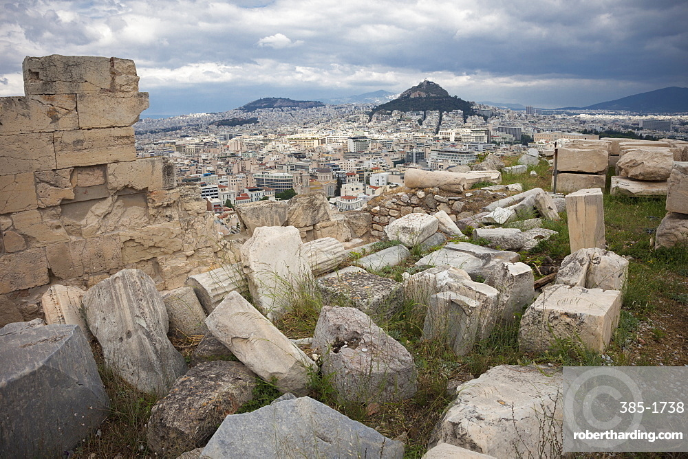 City looking north from the Acropolis, UNESCO World Heritage Site, Athens, Greece, Europe