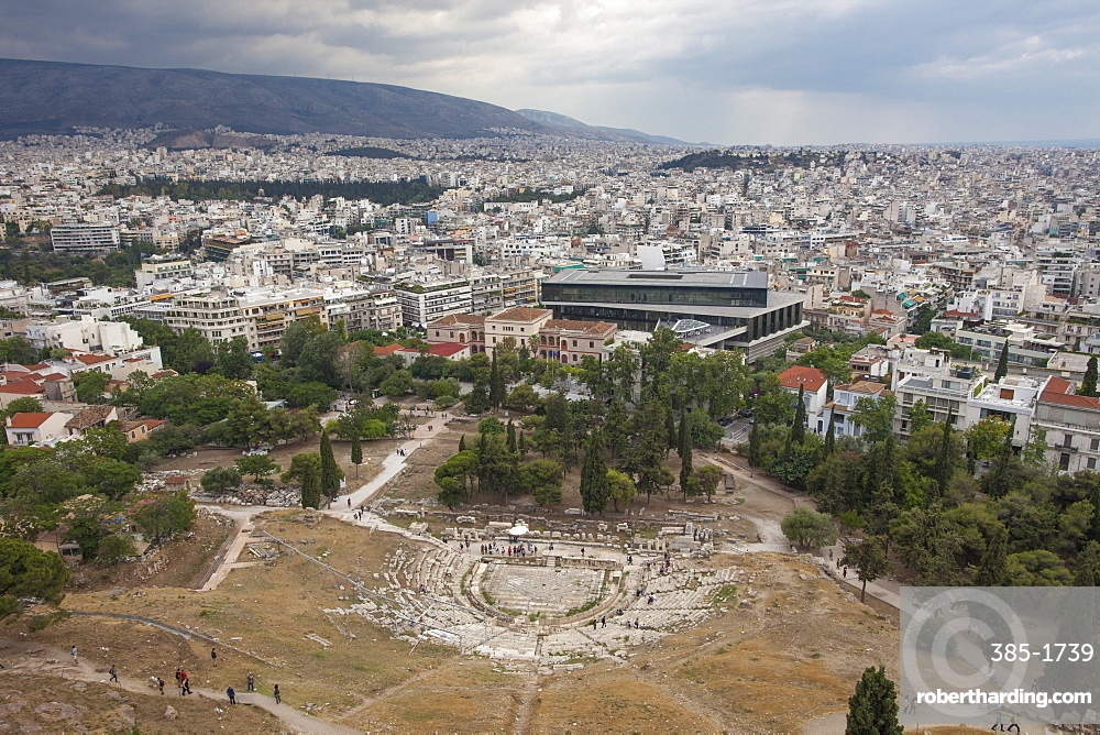 Theatre of Dionysus Eleuthereus, Acropolis, UNESCO World Heritage Site, Athens, Greece, Europe