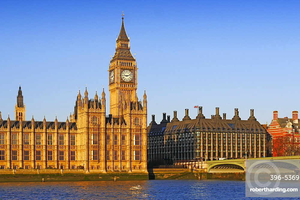 Big Ben, Houses of Parliament, UNESCO World Heritage  Site, London, England, United Kingdom, Europe