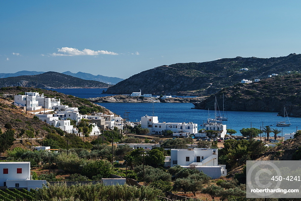 View of Faros Harbour, Sifnos, Cyclades, Greek Islands, Greece, Europe