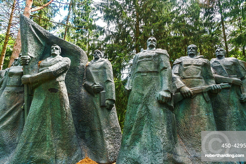 Monument to Soviet underground partisans, now banished since 1991 to a park near Vilnius, Grutas Park, Lithuania