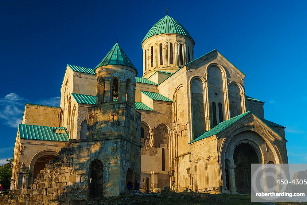 Bagrati Cathedral in evening sun, Kutaisi, Georgia