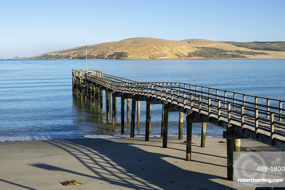 Omapere Wharf on the Hokianga, Omapere, Northland, New Zealand
