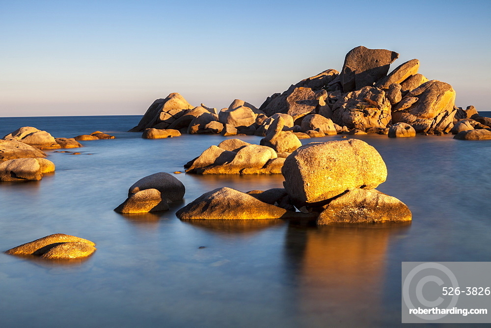 Rocks, Palombaggia beach, Corsica, France, Mediterranean, Europe