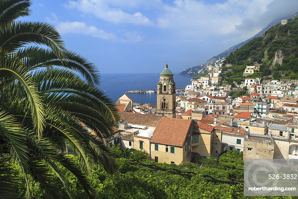 Amalfi, view of town and coast